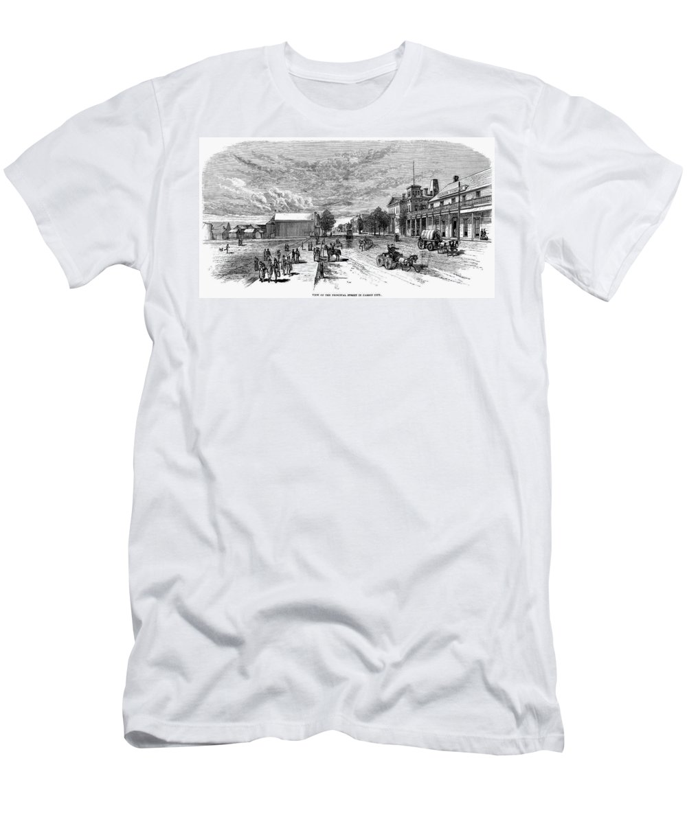 19th Century Men's T-Shirt (Athletic Fit) featuring the painting Nevada Carson City by Granger