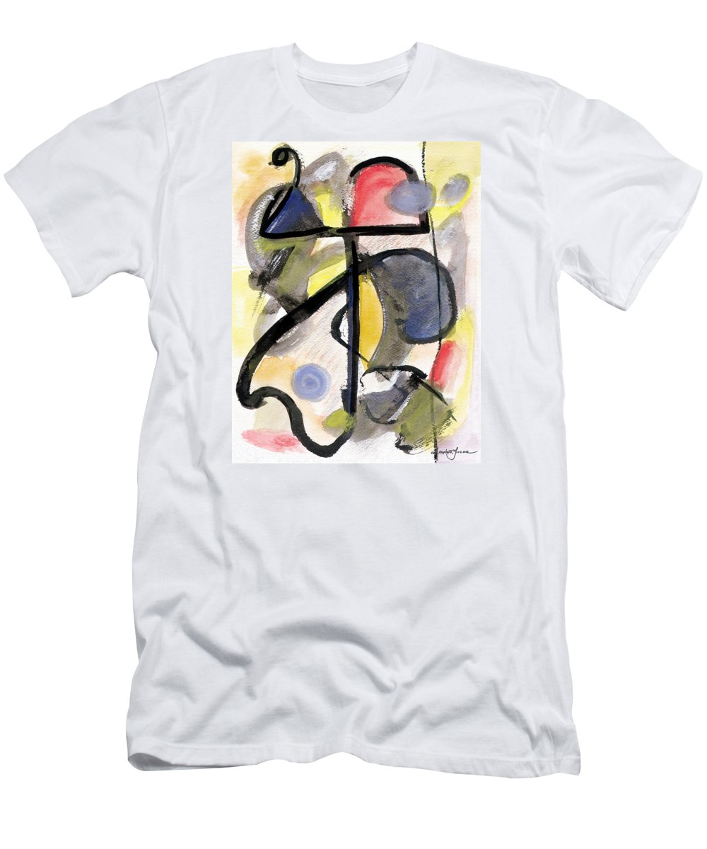 Abstract Art Men's T-Shirt (Athletic Fit) featuring the painting New Moon by Stephen Lucas