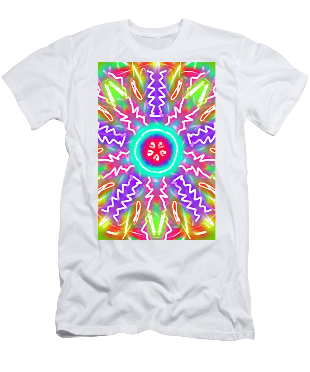 Kaleidoscope Men's T-Shirt (Athletic Fit) featuring the painting New Toy 3 by Bruce Nutting