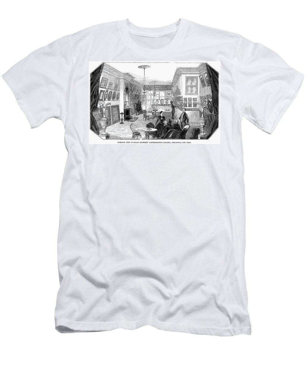 1853 Men's T-Shirt (Athletic Fit) featuring the photograph New York: Photo Gallery by Granger