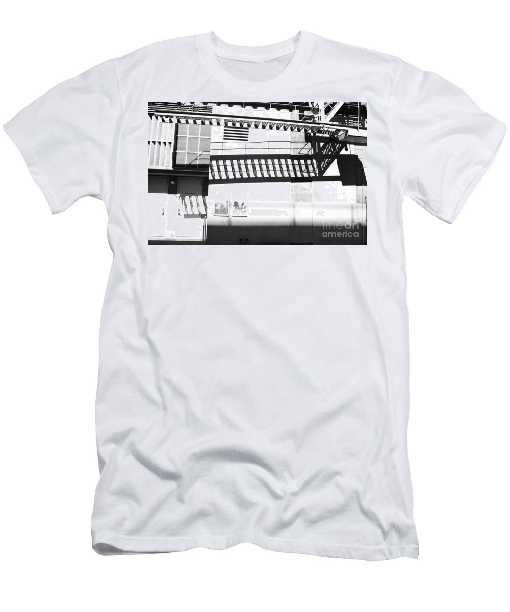 Men's T-Shirt (Athletic Fit) featuring the photograph New York Shadows by Sara Schroeder