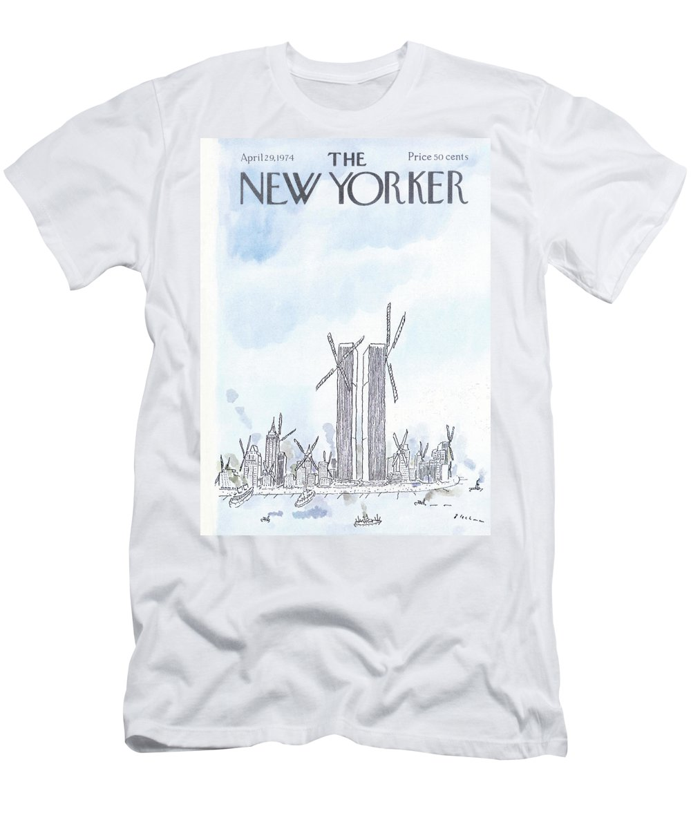 Modern Life T-Shirt featuring the painting New Yorker April 29th, 1974 by RO Blechman