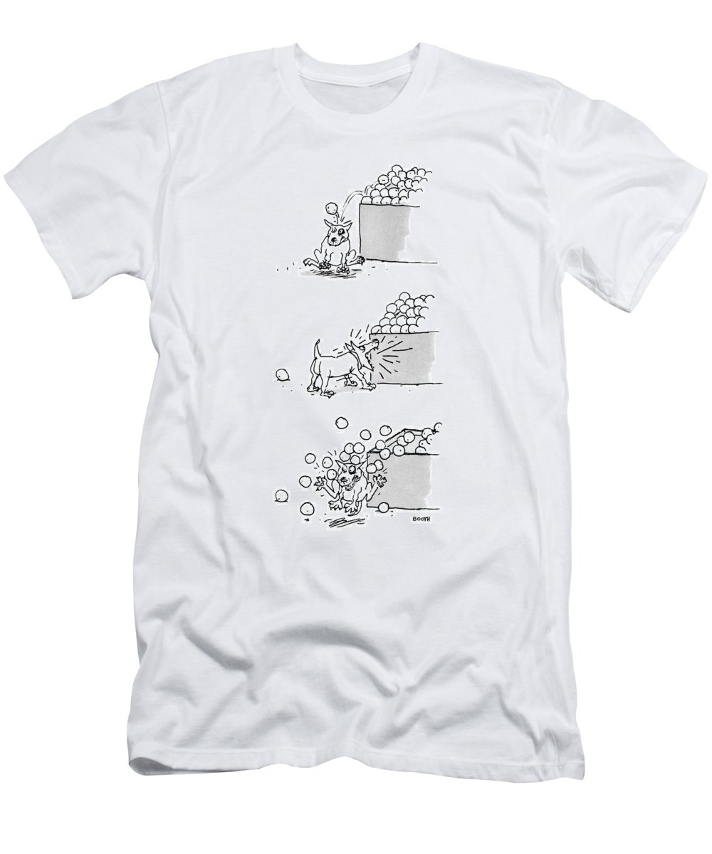 Captionless T-Shirt featuring the drawing New Yorker April 4th, 1988 by George Booth