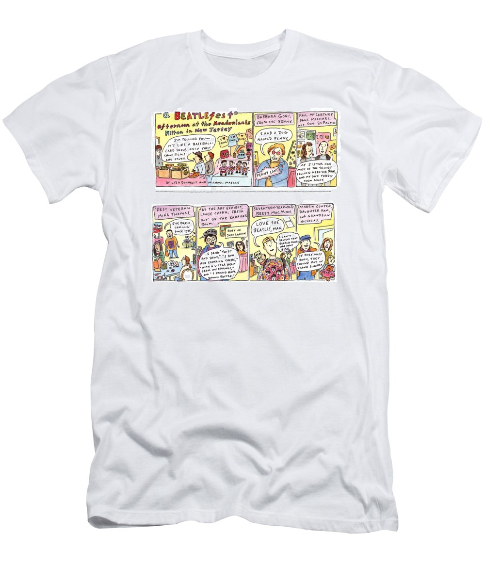 Music T-Shirt featuring the drawing New Yorker April 4th, 1994 by Liza Donnelly