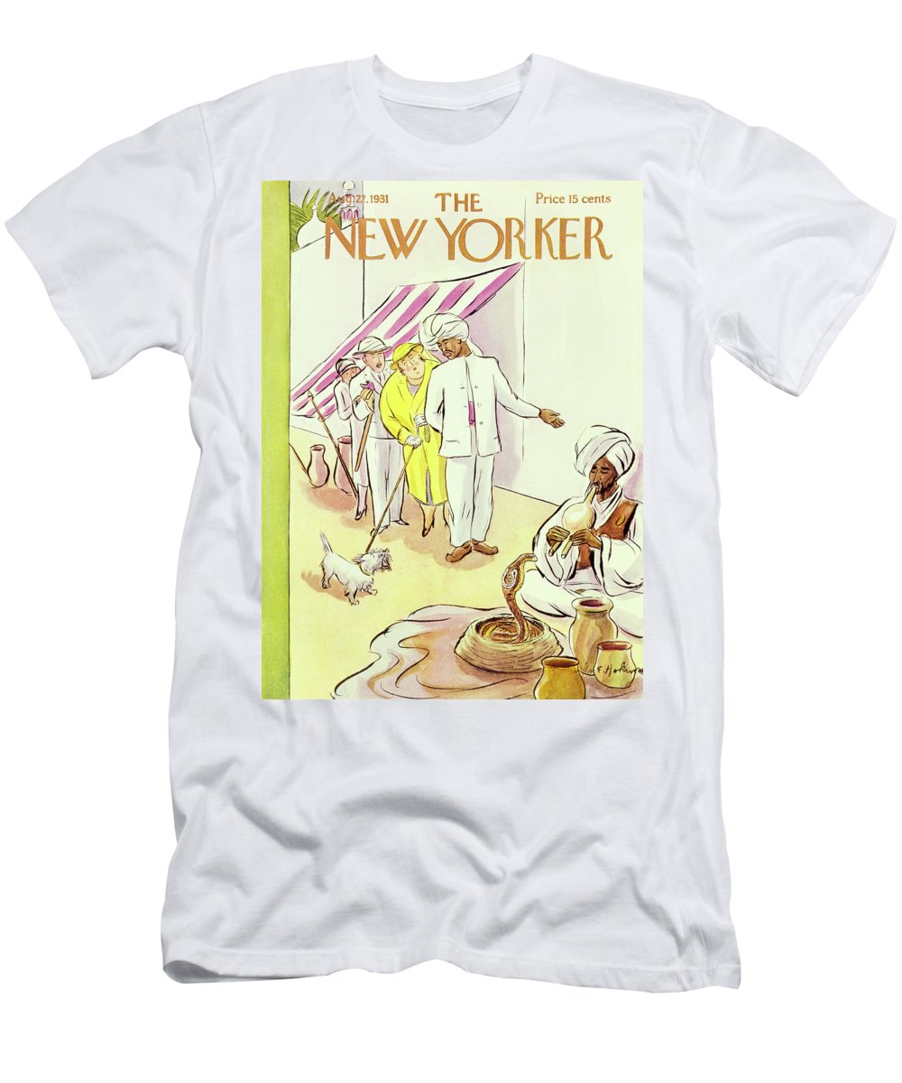 Illustration Men's T-Shirt (Athletic Fit) featuring the painting New Yorker August 22 1931 by Helene E. Hokinson