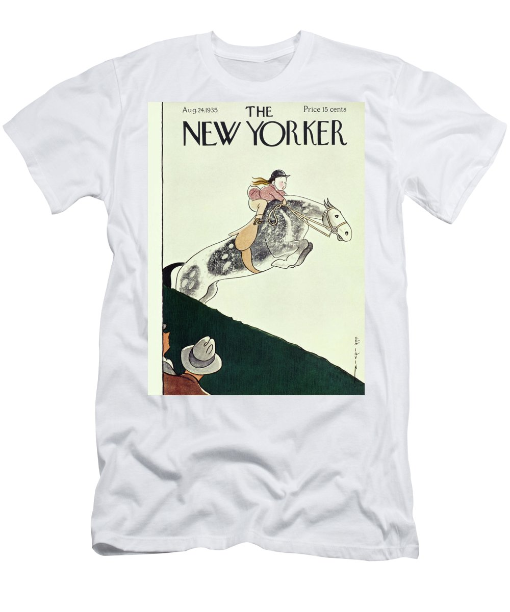 Animal Men's T-Shirt (Athletic Fit) featuring the painting New Yorker August 24 1935 by Rea Irvin