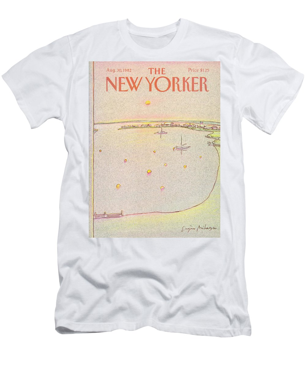 Summer T-Shirt featuring the painting New Yorker August 30th, 1982 by Eugene Mihaesco