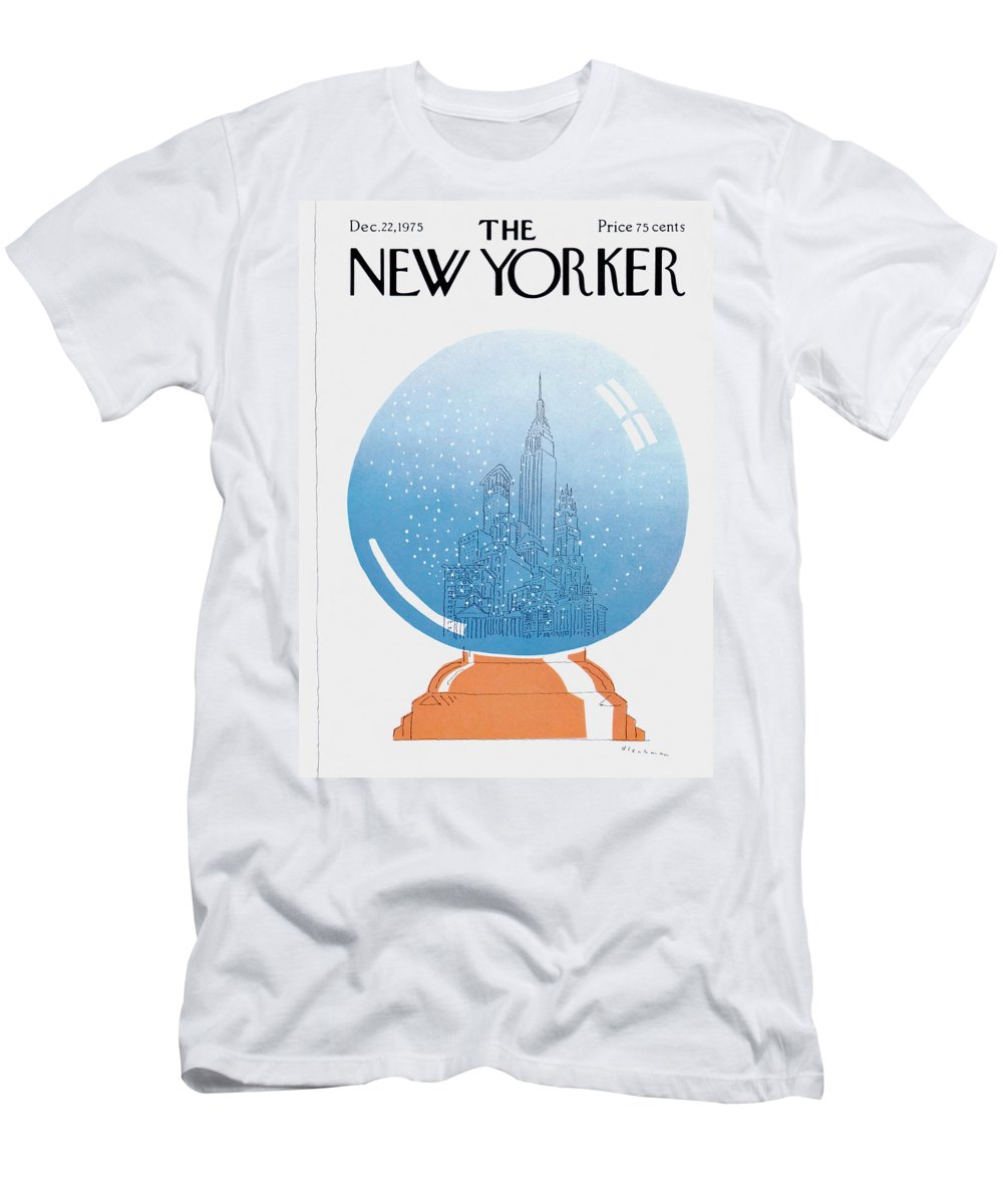 City T-Shirt featuring the painting New Yorker December 22nd, 1975 by RO Blechman