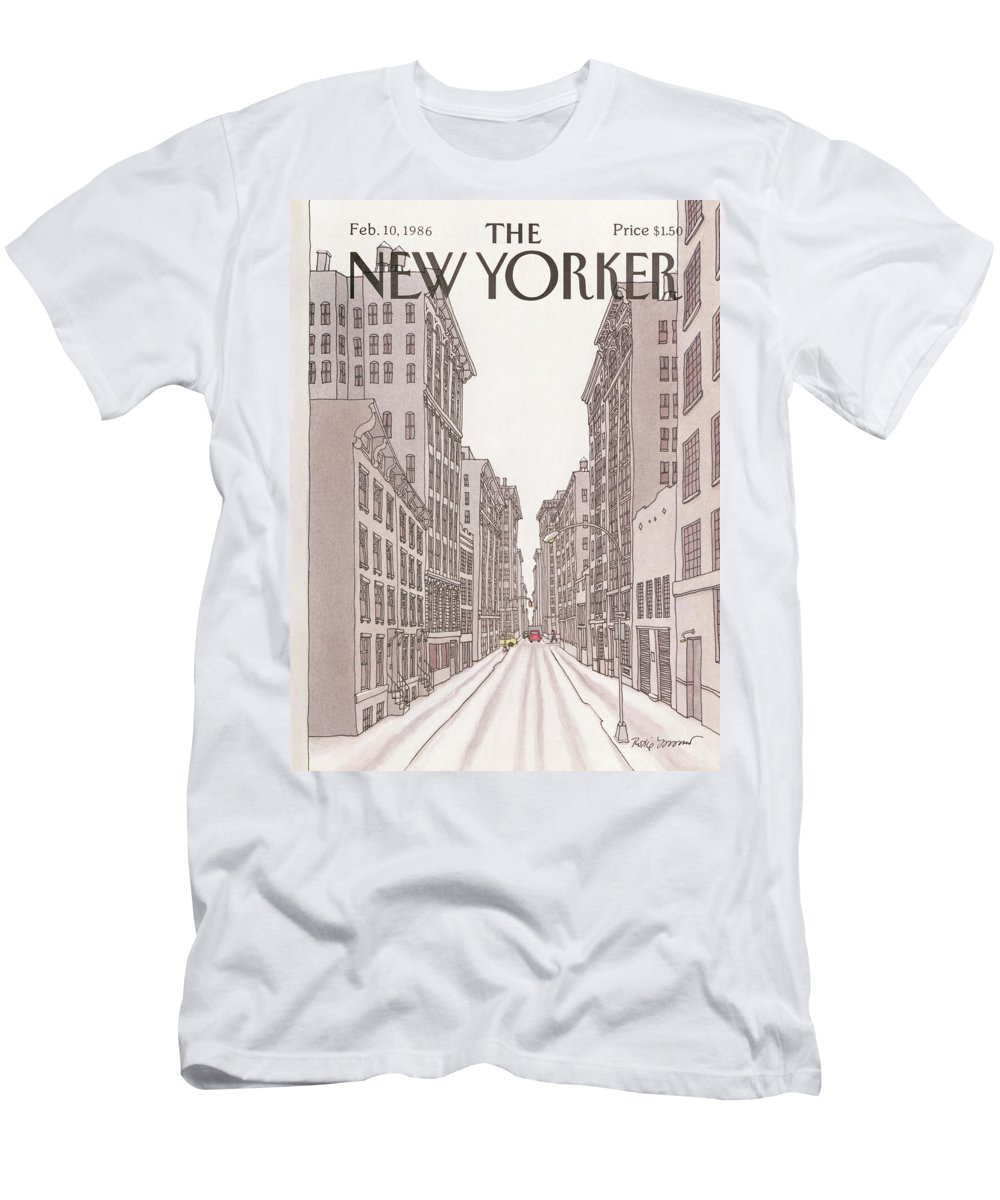 Urban T-Shirt featuring the painting New Yorker February 10th, 1986 by Roxie Munro