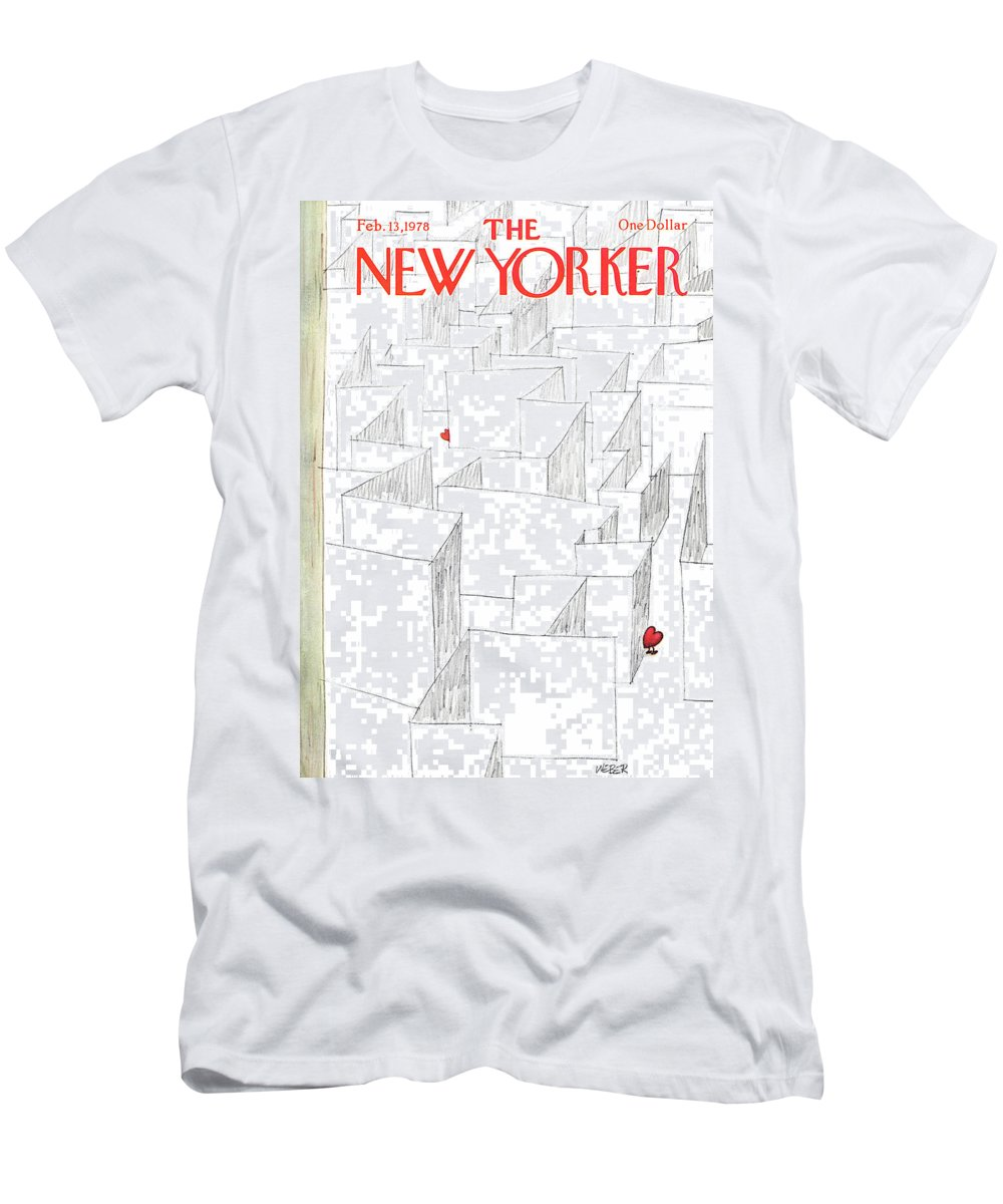 Holidays T-Shirt featuring the painting New Yorker February 13th, 1978 by Robert Weber