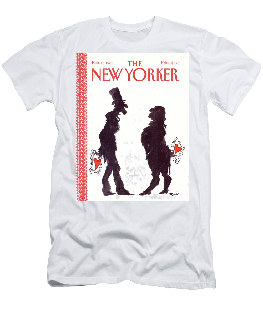 Holidays Men's T-Shirt (Athletic Fit) featuring the painting New Yorker February 15th, 1988 by Lee Lorenz