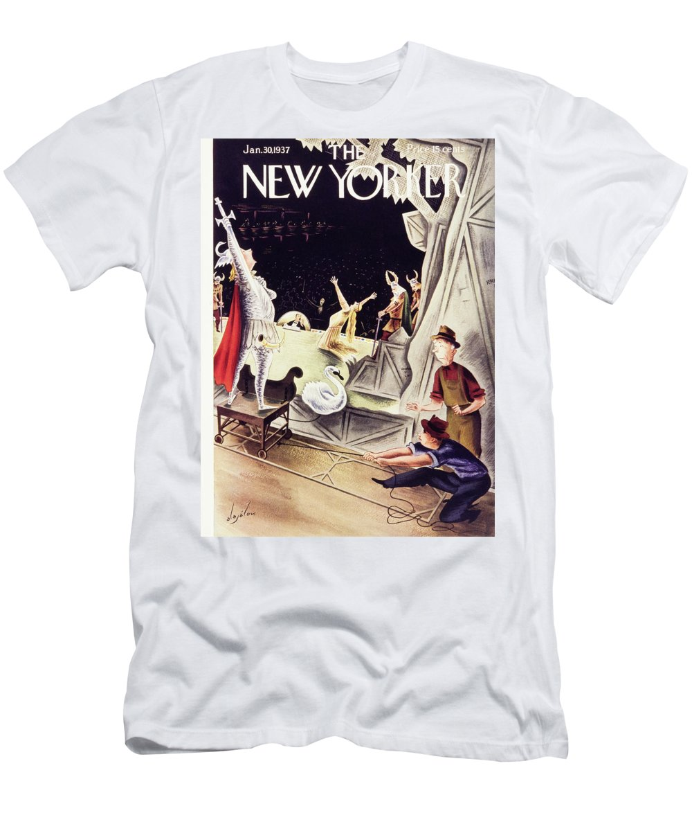 Theater T-Shirt featuring the painting New Yorker January 30 1937 by Constantin Alajalov