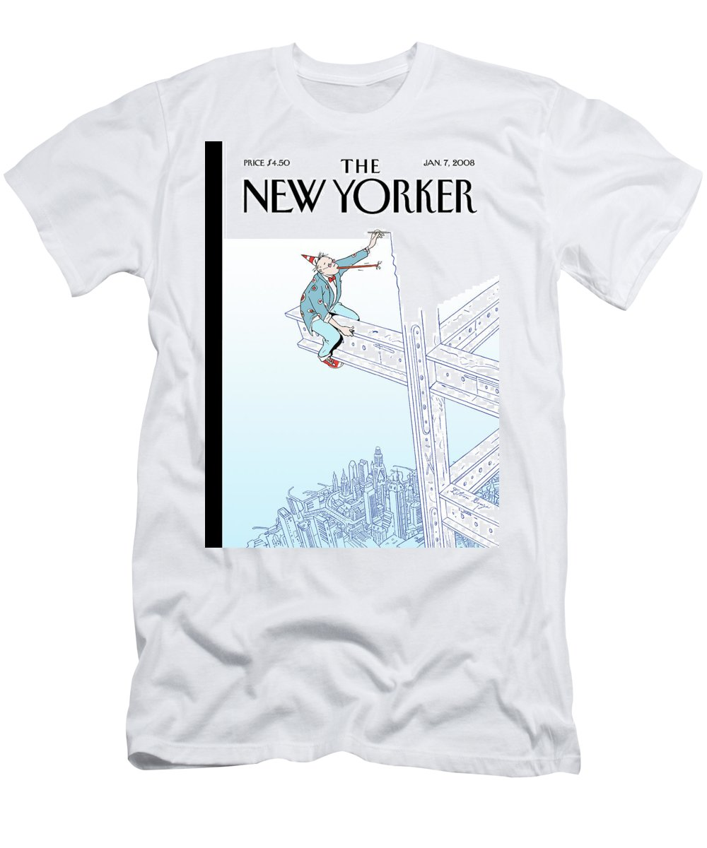 New Year T-Shirt featuring the painting New Yorker January 7th, 2008 by Istvan Banyai