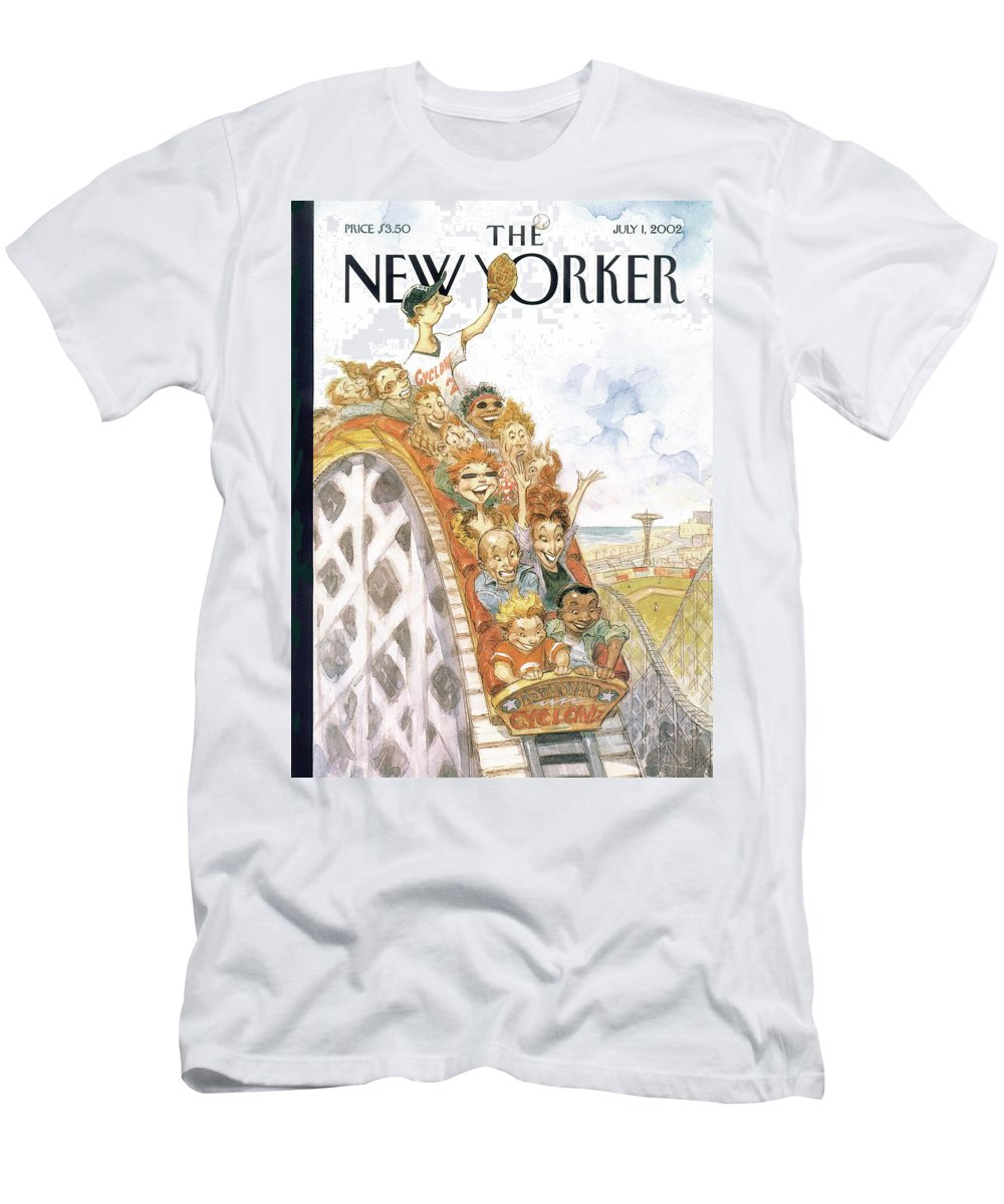 Coney Island T-Shirt featuring the painting Fair Ball by Peter de Seve