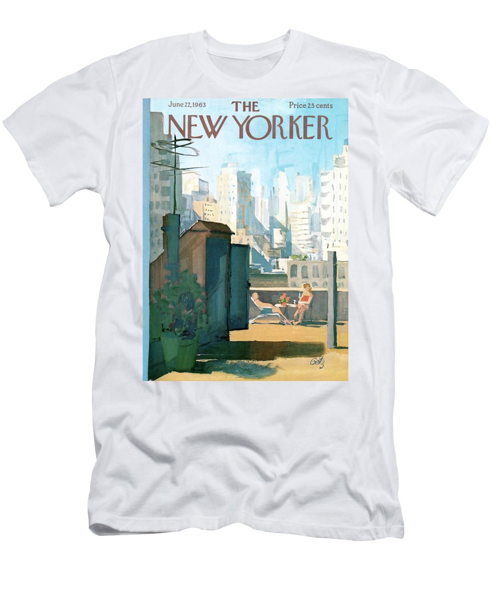 T-Shirt featuring the painting New Yorker June 22nd, 1963 by Arthur Getz