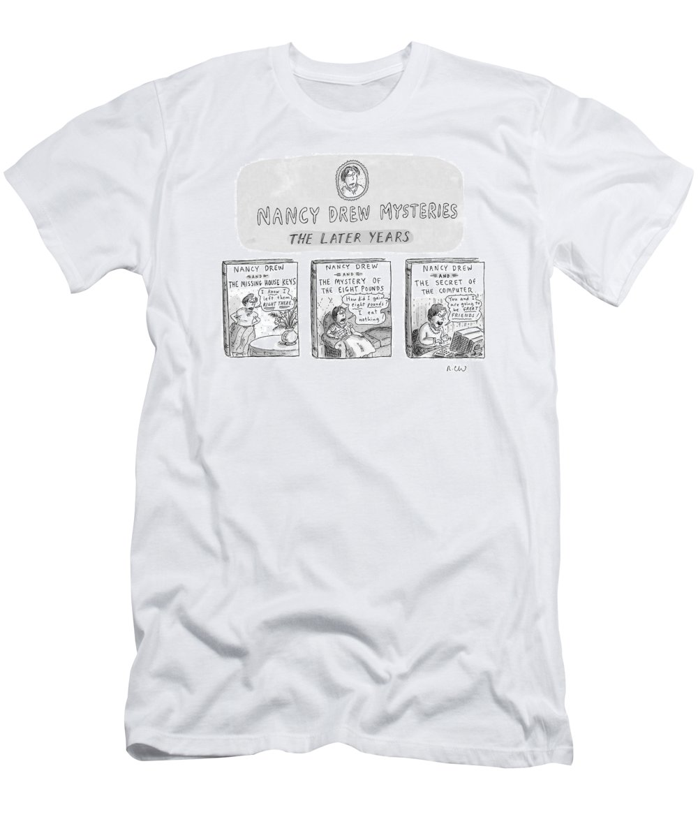 Old Age Men's T-Shirt (Athletic Fit) featuring the drawing New Yorker June 22nd, 1998 by Roz Chast