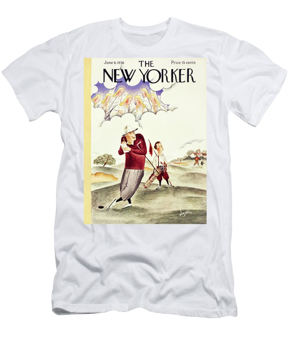 Illustration Men's T-Shirt (Athletic Fit) featuring the painting New Yorker June 6 1936 by Constantin Alajalov