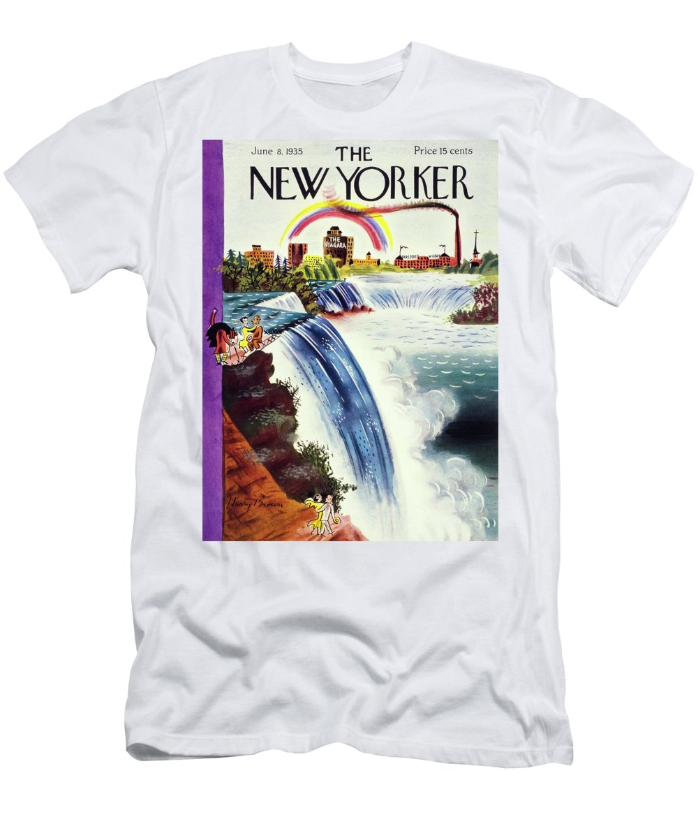 Landscape T-Shirt featuring the painting New Yorker June 8 1935 by Harry Brown