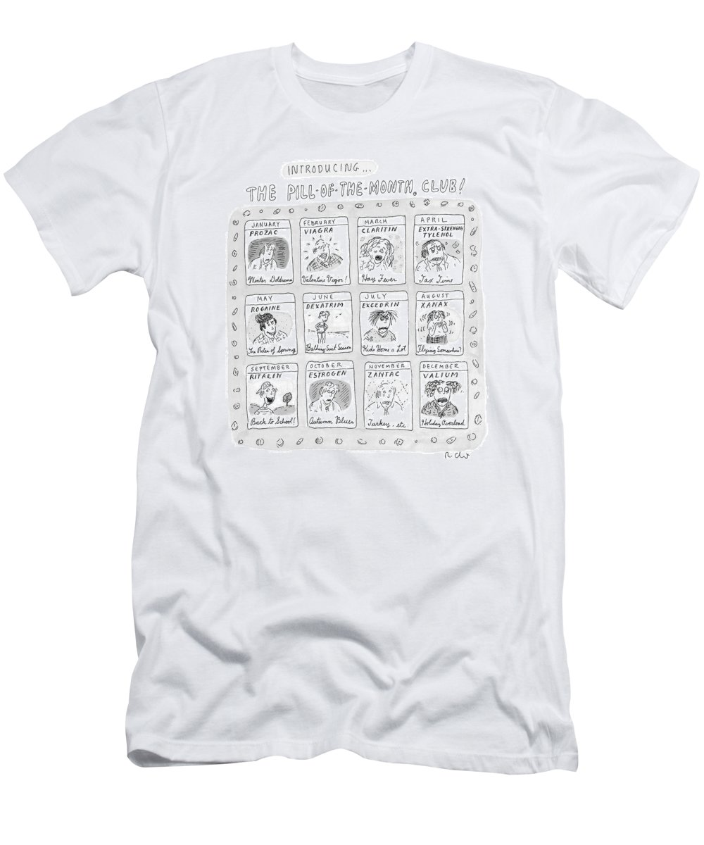 Drug T-Shirt featuring the drawing New Yorker June 8th, 1998 by Roz Chast