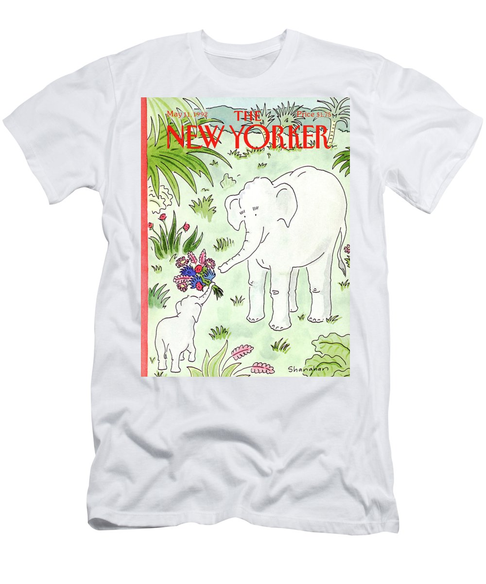 Animals T-Shirt featuring the painting New Yorker May 11th, 1992 by Danny Shanahan