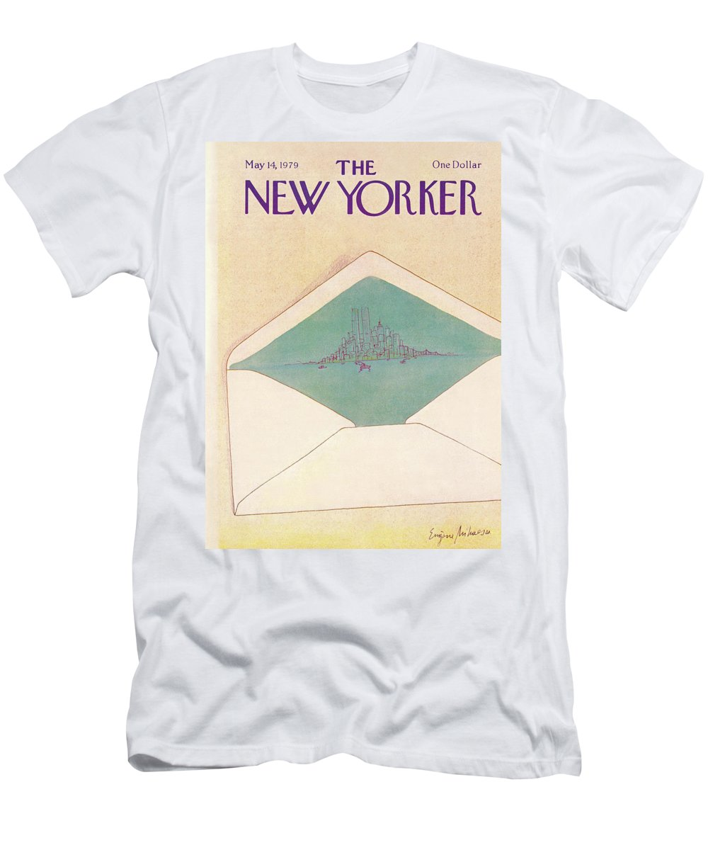 Eugene Mihaesco Emi T-Shirt featuring the painting New Yorker May 14th, 1979 by Eugene Mihaesco