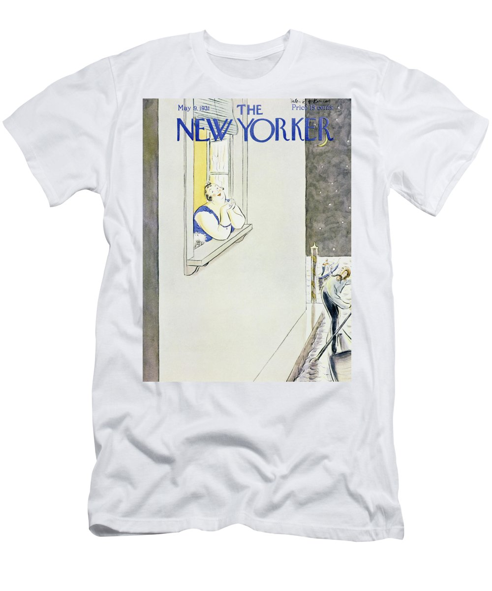 Illustration Men's T-Shirt (Athletic Fit) featuring the painting New Yorker May 9 1931 by Helene E. Hokinson