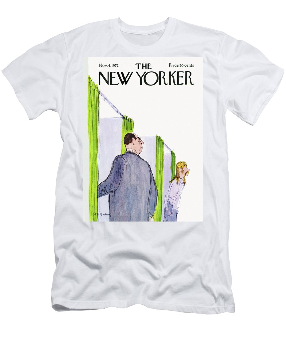 James Stevenson Jst T-Shirt featuring the painting New Yorker November 4th, 1972 by James Stevenson