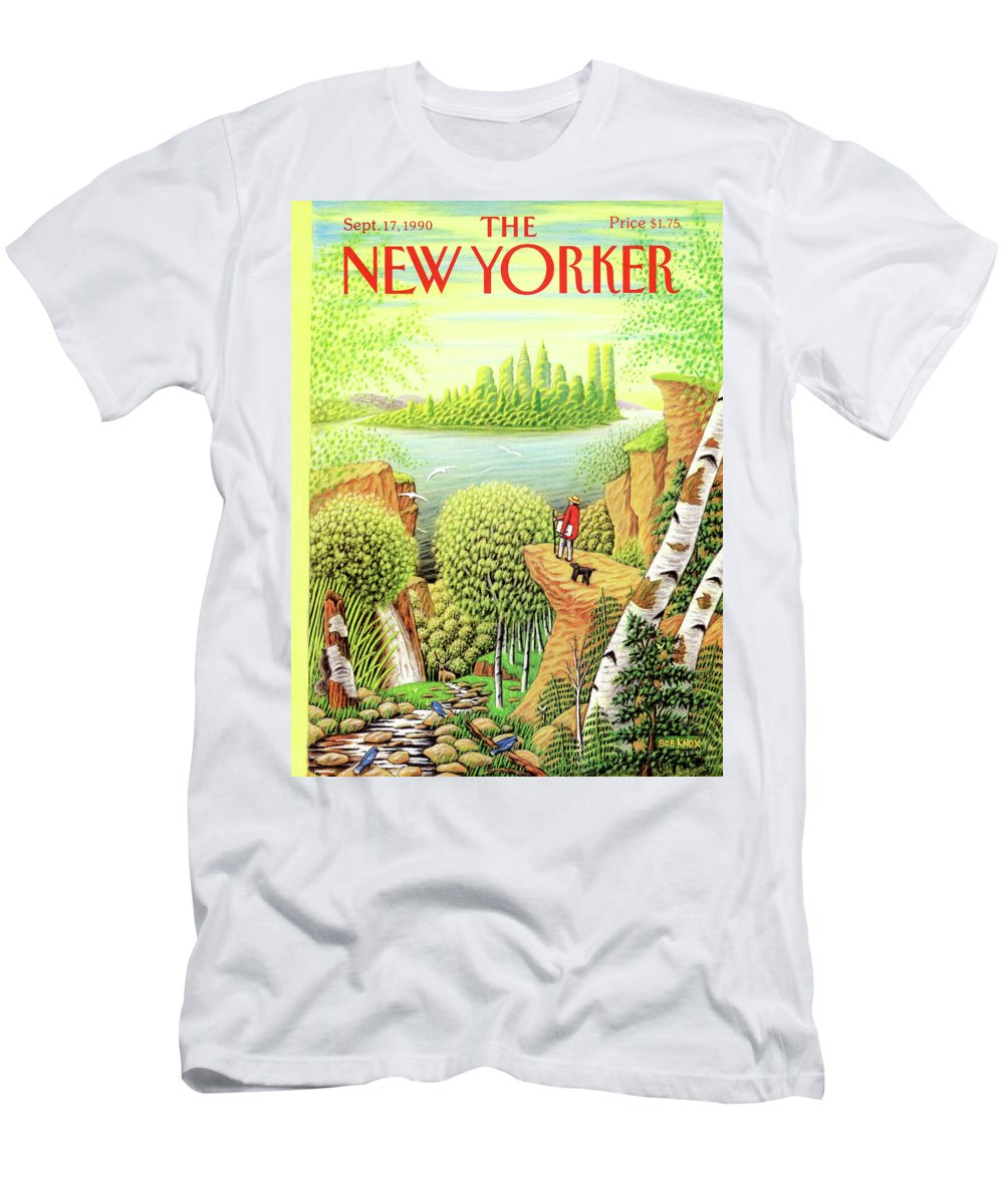 Animal T-Shirt featuring the painting New Yorker September 17, 1990 by Bob Knox