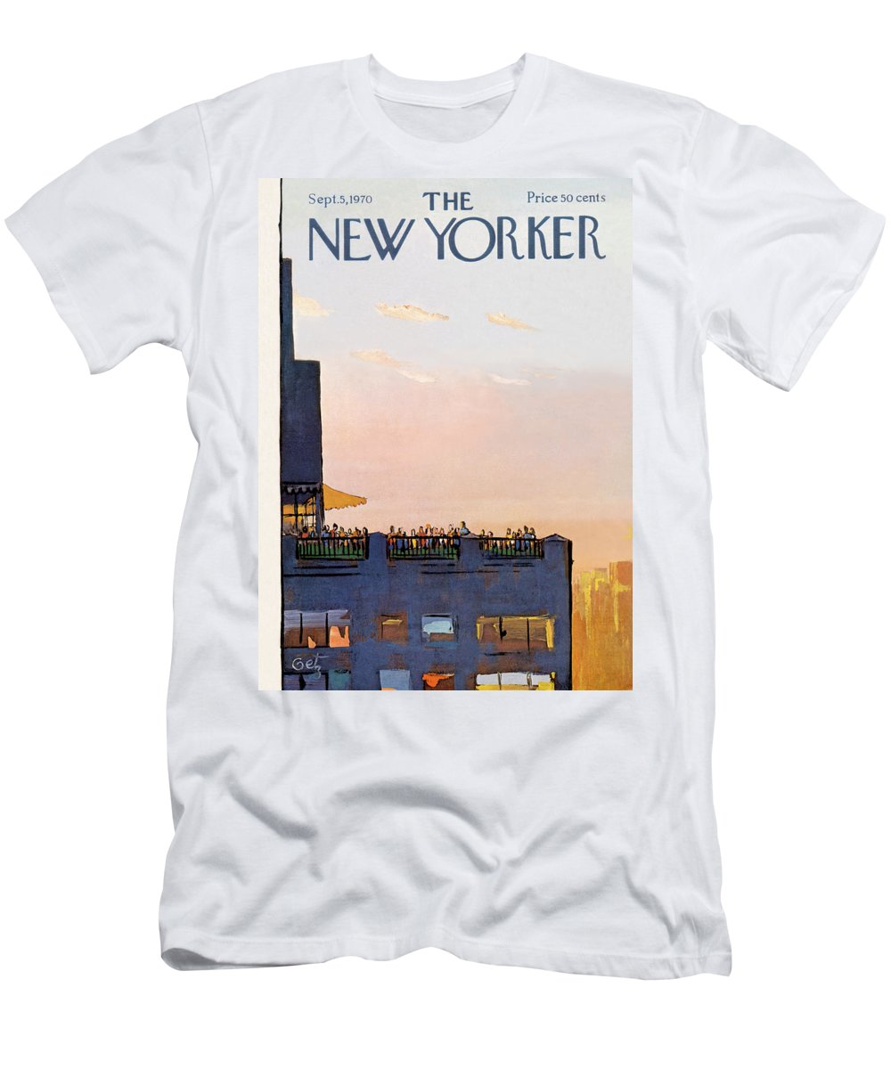 Arthur Getz Agt T-Shirt featuring the painting New Yorker September 5th, 1970 by Arthur Getz