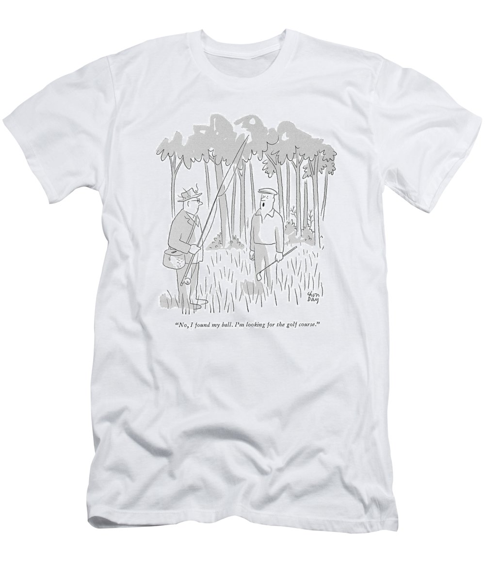 279b4f88f (lost Golfer To A Passing Fisherman.) Leisure Men's T-Shirt (Athletic