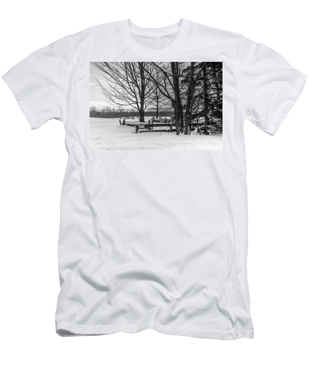 Winter Men's T-Shirt (Athletic Fit) featuring the photograph No Tresspassing by Richard Kitchen