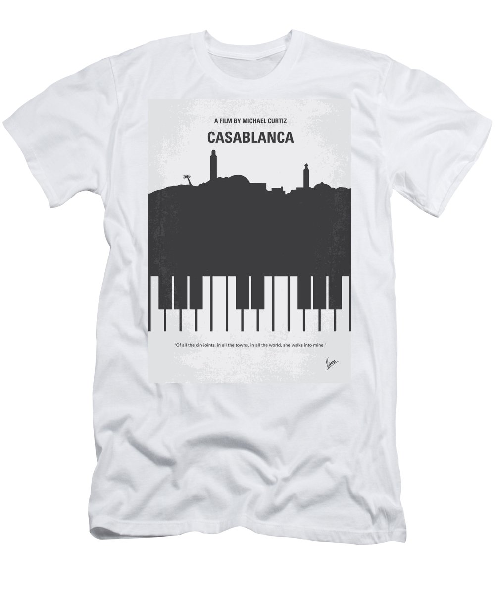 Casablanca T-Shirt featuring the digital art No192 My Casablanca minimal movie poster by Chungkong Art