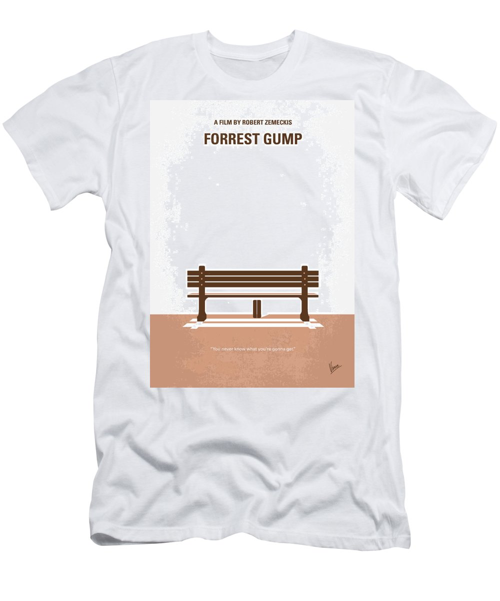 Forrest T-Shirt featuring the digital art No193 My Forrest Gump minimal movie poster by Chungkong Art