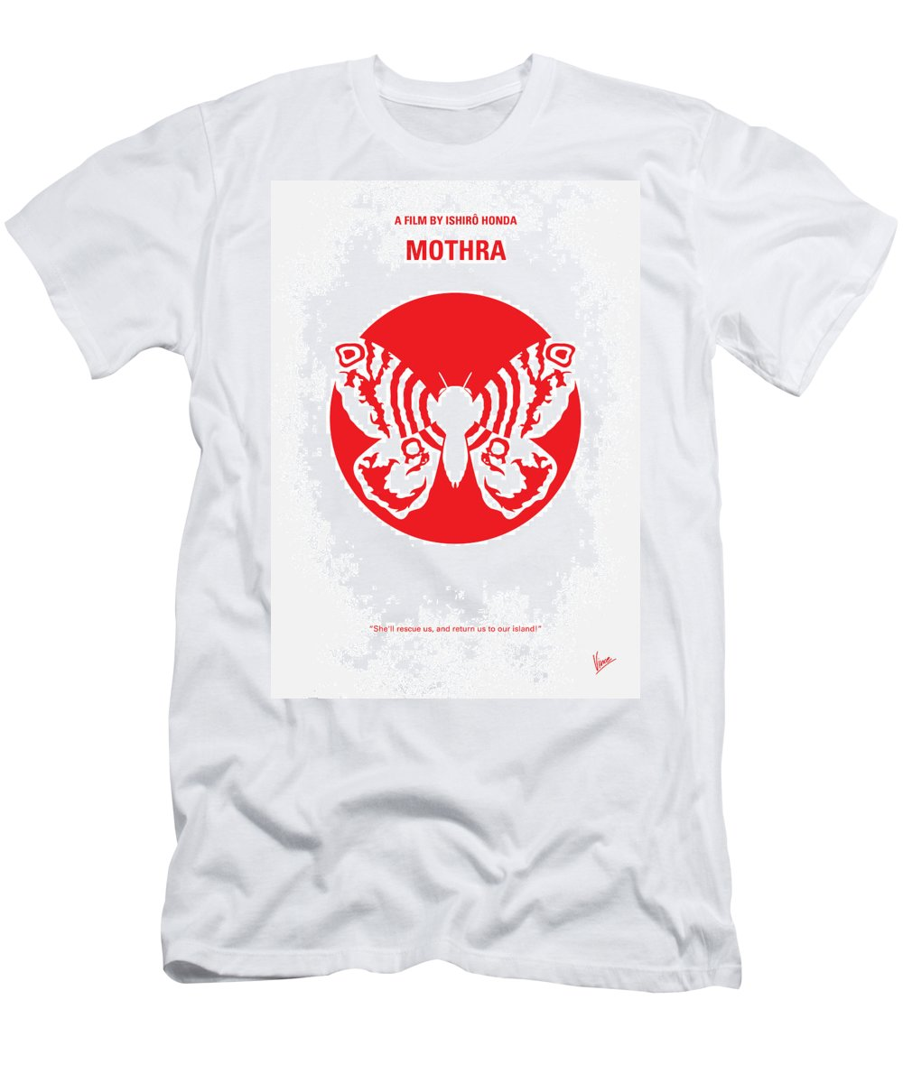 Mothra Men's T-Shirt (Athletic Fit) featuring the digital art No391 My Mothra Minimal Movie Poster by Chungkong Art