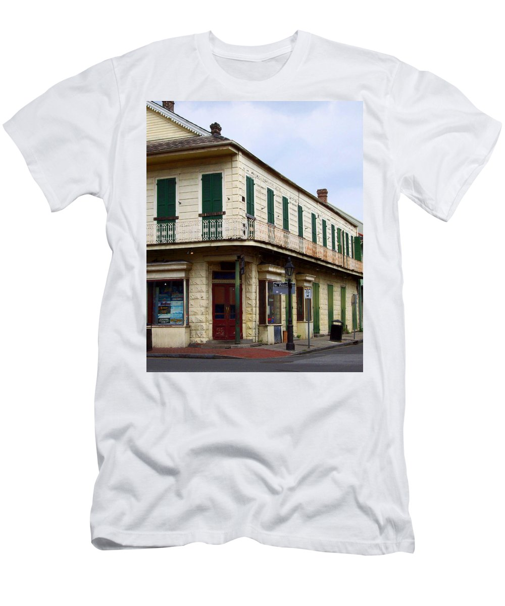 St. Men's T-Shirt (Athletic Fit) featuring the photograph Nola Streetcorner by Richard Booth
