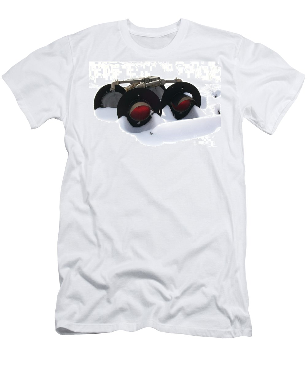Lights Men's T-Shirt (Athletic Fit) featuring the photograph Nothin But Lights by Sara Raber