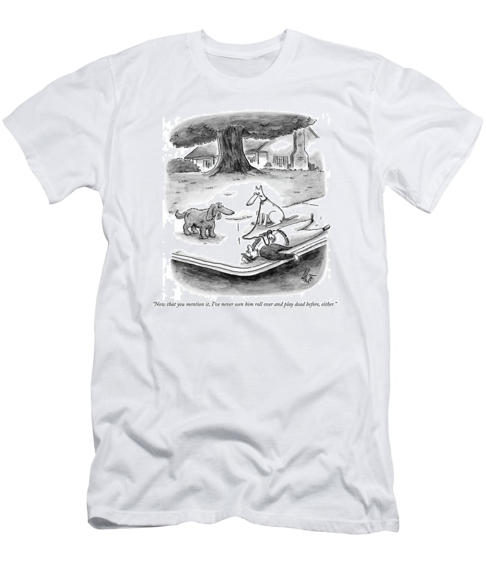 Animals T-Shirt featuring the drawing Now That You Mention by Frank Cotham