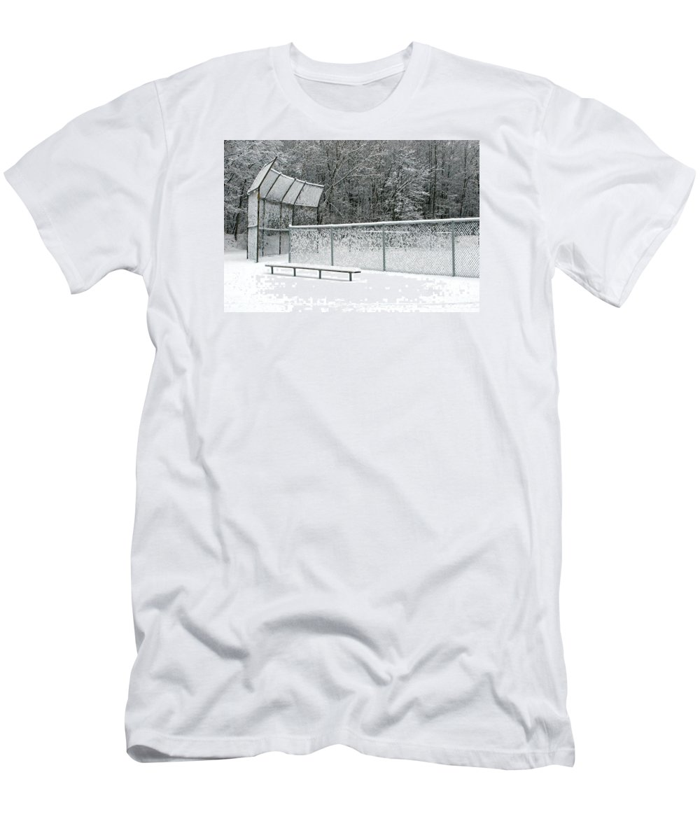 Winter Men's T-Shirt (Athletic Fit) featuring the photograph Off Season by Ann Horn