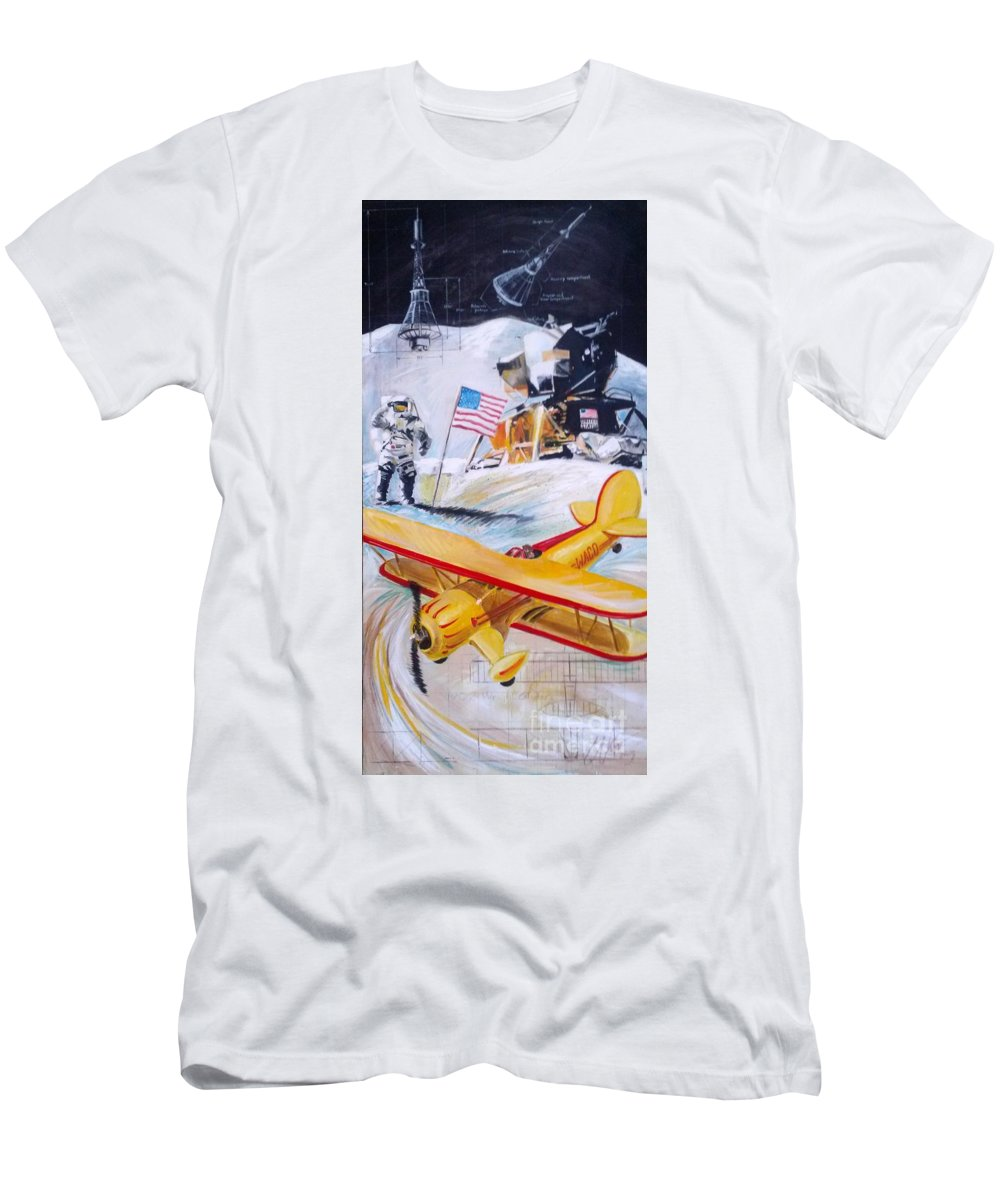 Aviation Men's T-Shirt (Athletic Fit) featuring the painting Ohio Aviation by William III
