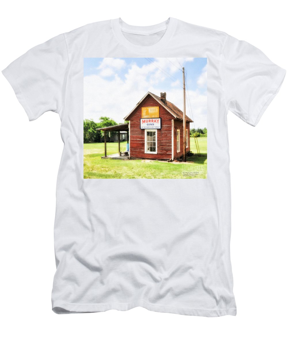 Old Men's T-Shirt (Athletic Fit) featuring the digital art Old Country Cotton Gin Store - South Carolina - I by David Perry Lawrence