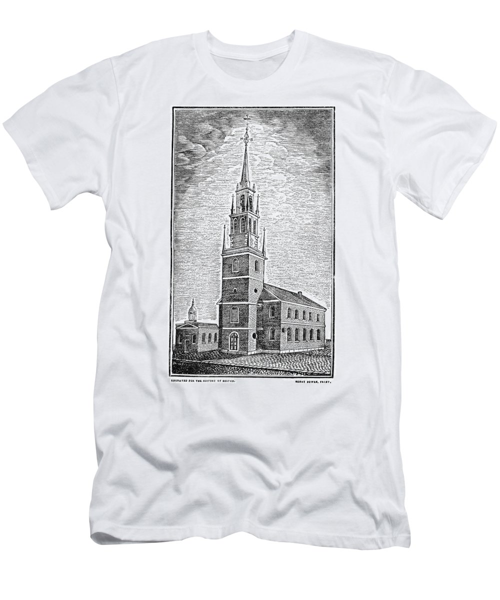 1775 Men's T-Shirt (Athletic Fit) featuring the photograph Old North Church, 1775 by Granger