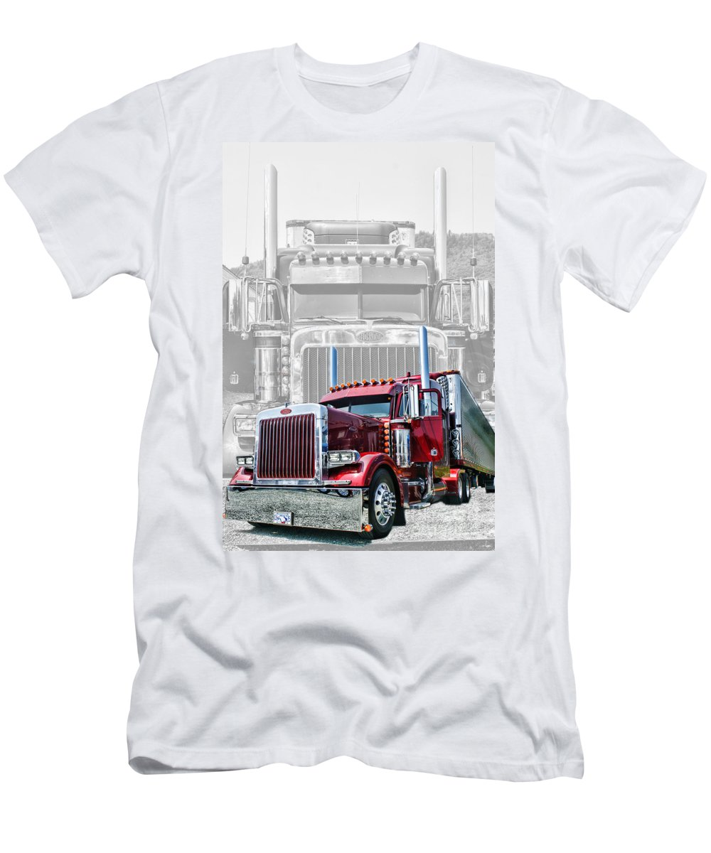 Trucks Men's T-Shirt (Athletic Fit) featuring the photograph Old Skool-double Pete by Randy Harris