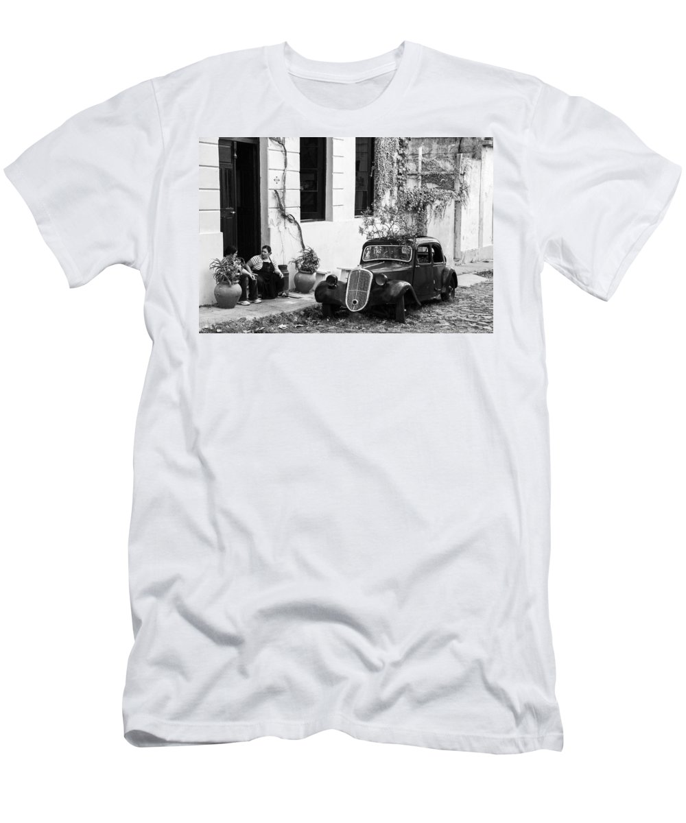 Uruguay Men's T-Shirt (Athletic Fit) featuring the photograph Oldtimer Ladies by For Ninety One Days