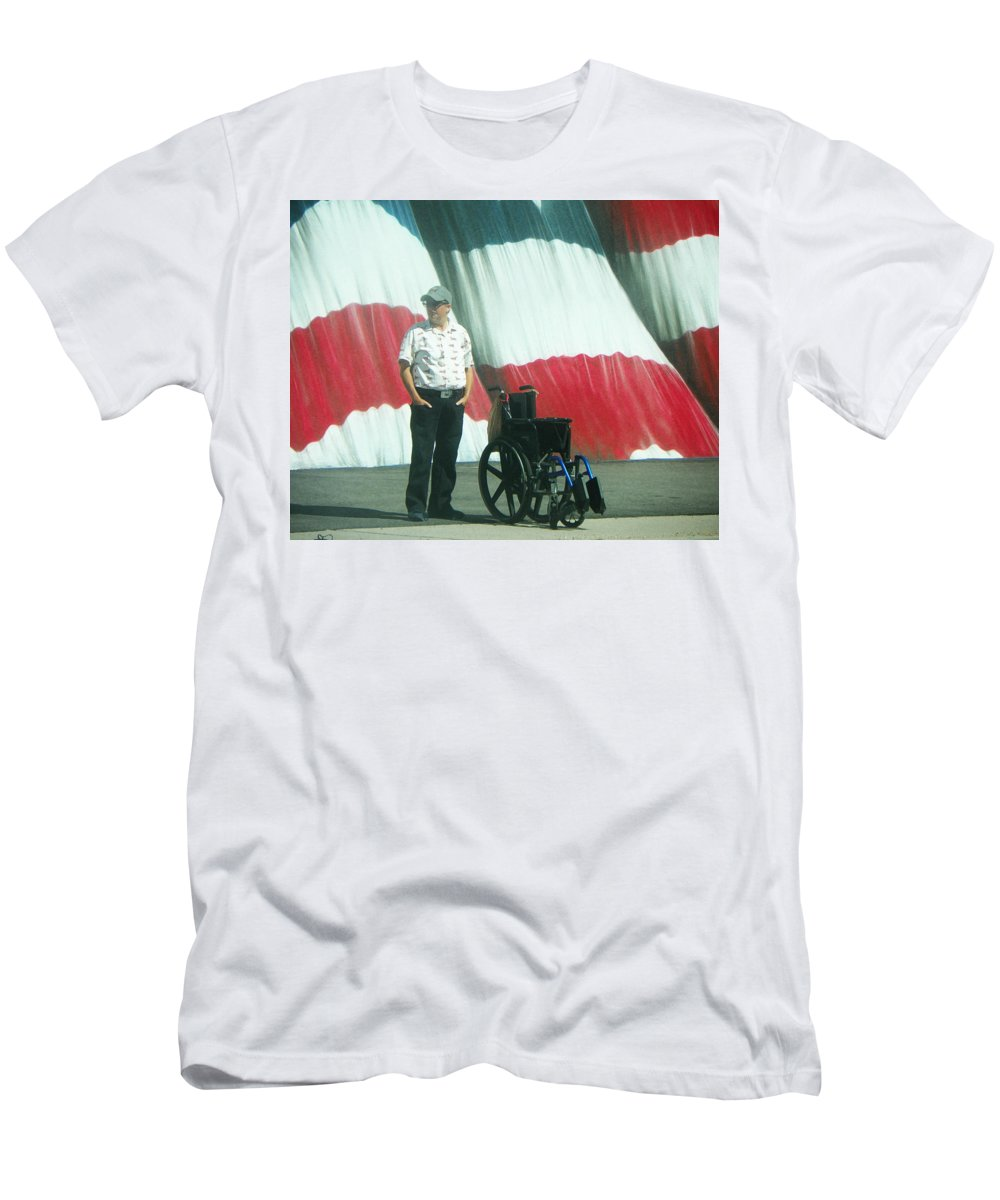 Abstract Men's T-Shirt (Athletic Fit) featuring the photograph On American Streets by Lenore Senior