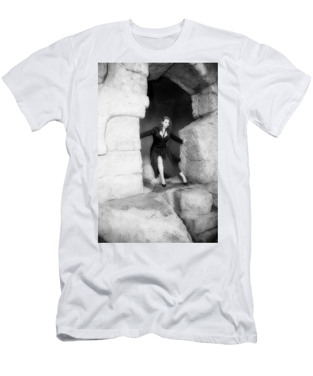 Singer Men's T-Shirt (Athletic Fit) featuring the photograph On The Edge by Hugh Smith