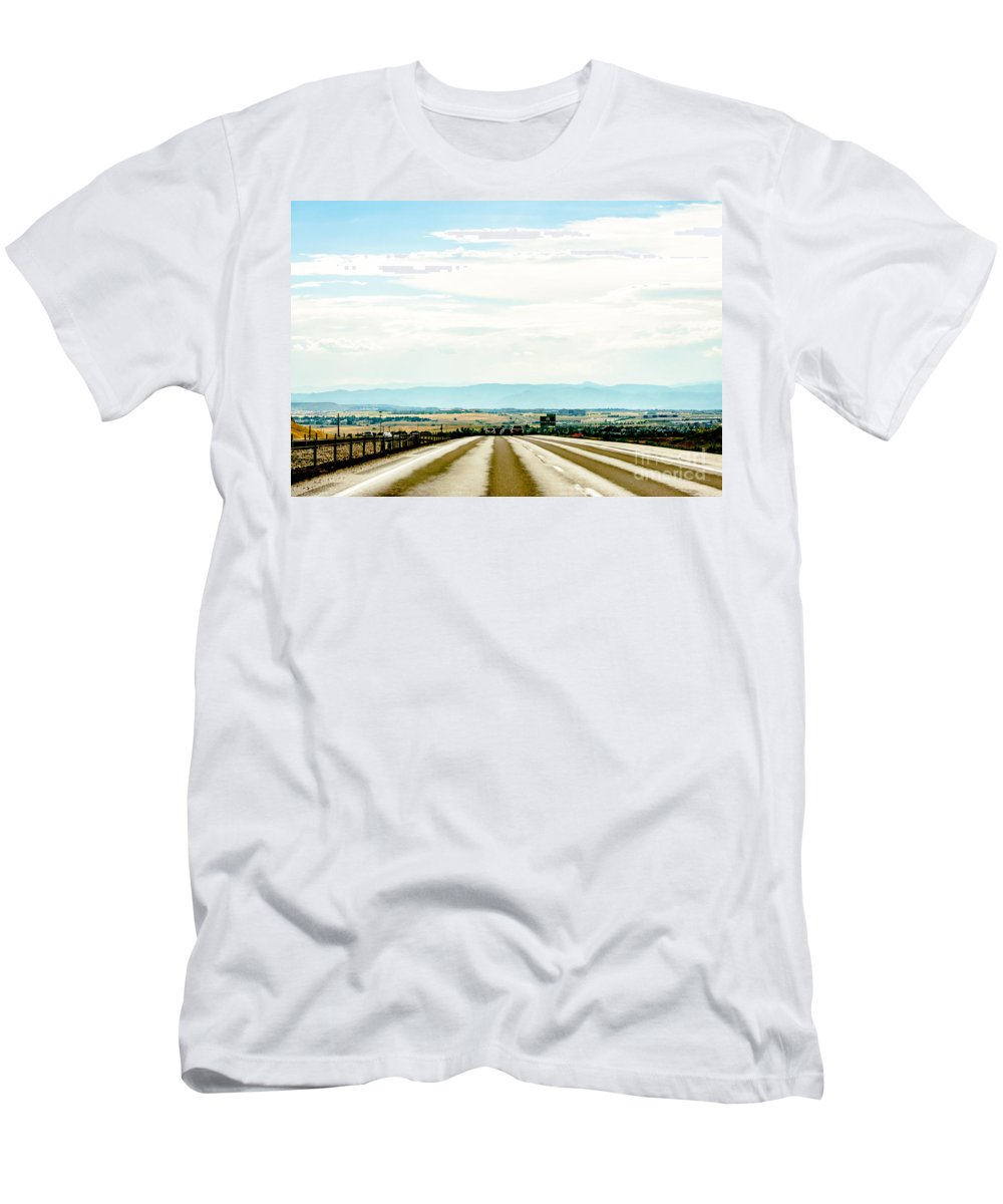 Road Men's T-Shirt (Athletic Fit) featuring the photograph On The Road Again by Amel Dizdarevic