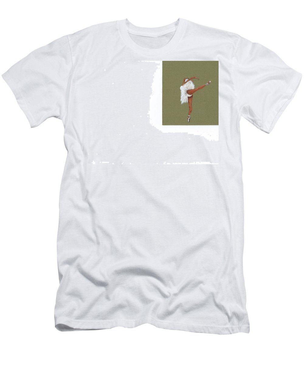 Dance Men's T-Shirt (Athletic Fit) featuring the painting On Your Toes by Catherine Swerediuk