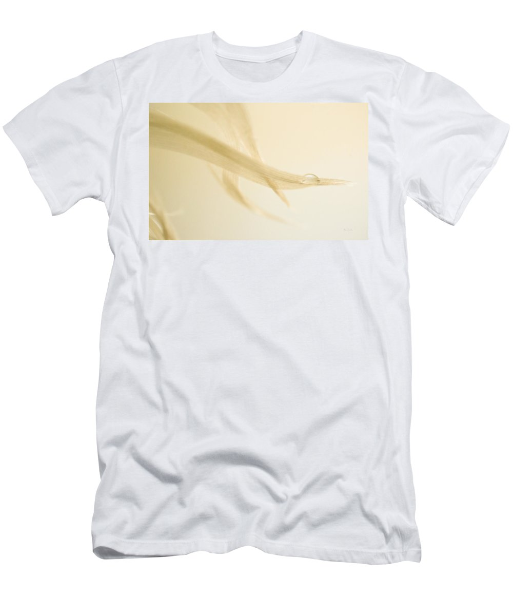 Feather Men's T-Shirt (Athletic Fit) featuring the photograph One Drop Of Water by Bob Orsillo