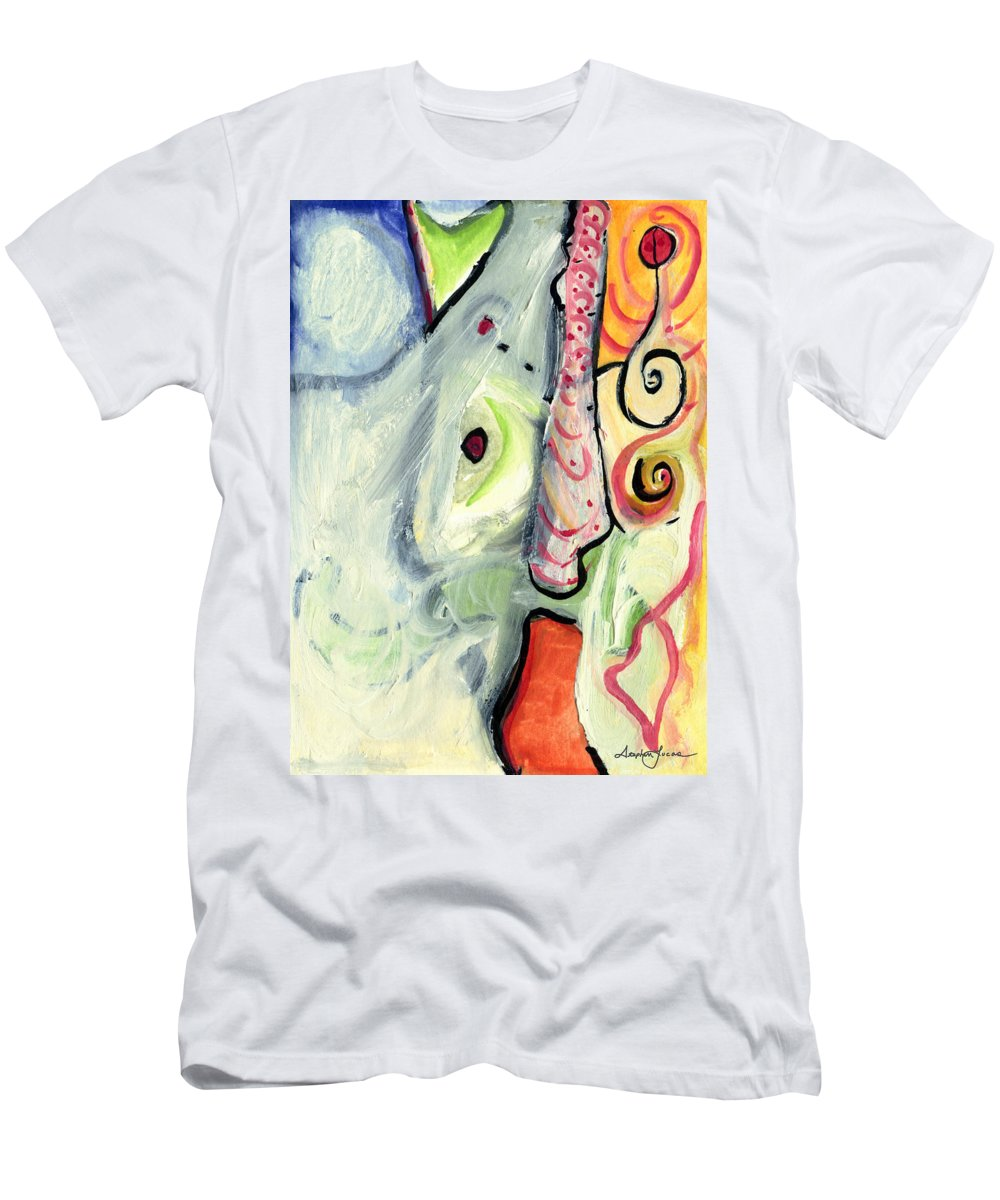 Abstract Art Men's T-Shirt (Athletic Fit) featuring the painting One In A Million by Stephen Lucas