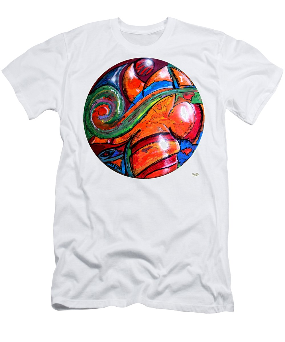 Illustration Men's T-Shirt (Athletic Fit) featuring the painting One Way Ticket To The Island by Marcello Cicchini
